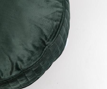 Almofada Redonda em Veludo Lateral Ripado Verde - 45x15cm | WestwingNow