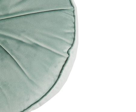 Almofada Botão Redonda em Veludo Verde Água - 45x10cm | WestwingNow