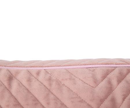 Almofada em Veludo Zig Zag - Rosé - 30x50cm | WestwingNow