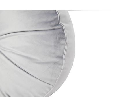 Almofada Botão Redonda em Veludo Cinza - 45x10cm | WestwingNow