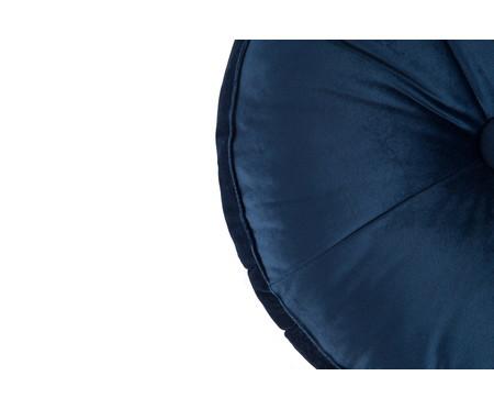 Almofada Botão Redonda em Veludo Marinho - 45x10cm | WestwingNow