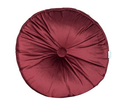 Almofada Botão Redonda em Veludo Vinho - 45x10cm | WestwingNow