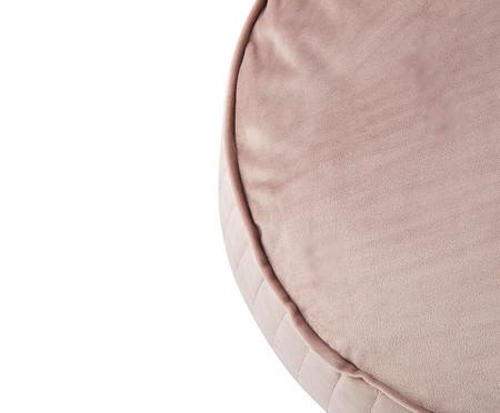 Almofada Redonda em Veludo Lateral Ripado Bege - 45x15cm   WestwingNow