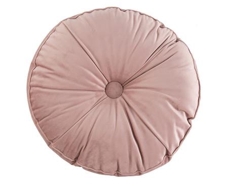 Almofada Botão Redonda em Veludo Rosé - 45x10cm | WestwingNow