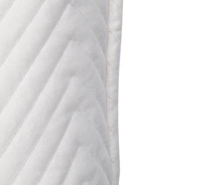 Almofada em Veludo Zig Zag Gelo - 50x50cm | WestwingNow