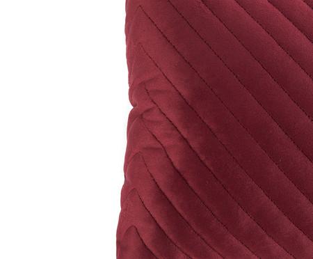 Almofada em Veludo Zig Zag - Vinho - 30x50cm | WestwingNow