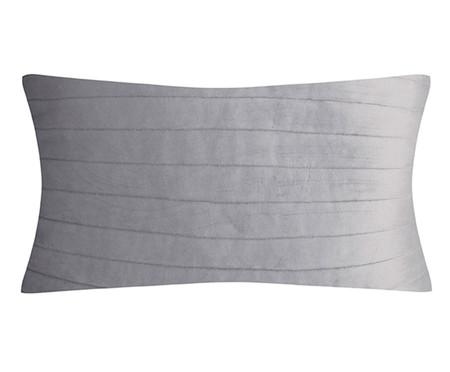 Almofada em Veludo  Ripado Cinza - 30x50cm | WestwingNow