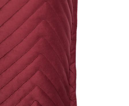 Almofada em Veludo Zig Zag Vinho - 50x50cm | WestwingNow
