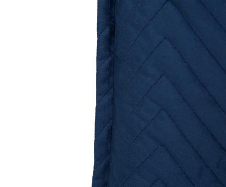 Almofada em Veludo Zig Zag Marinho - 50x50cm | WestwingNow