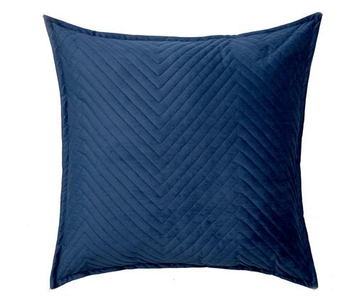 Almofada em Veludo Zig Zag Marinho - 50x50cm, azul   WestwingNow