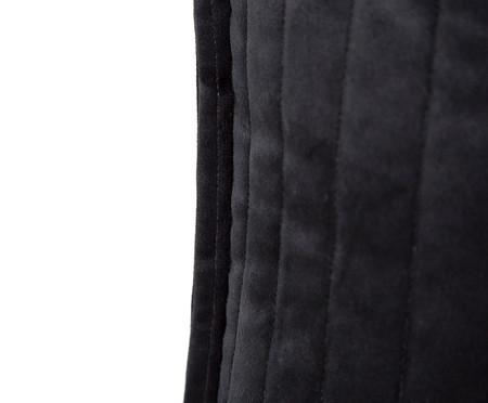 Almofada em Veludo  Ripado Preto - 50x50cm | WestwingNow
