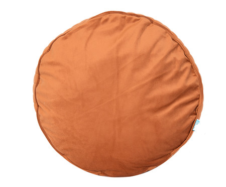 Almofada Redonda em Veludo Lateral Ripado Terra - 45x15cm | WestwingNow