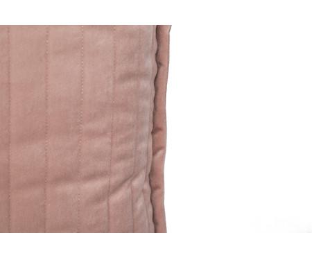 Almofada em Veludo  Ripado Rosé - 50x50cm | WestwingNow