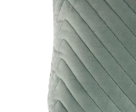 Almofada em Veludo Zig Zag - Verde Água - 30x50cm | WestwingNow