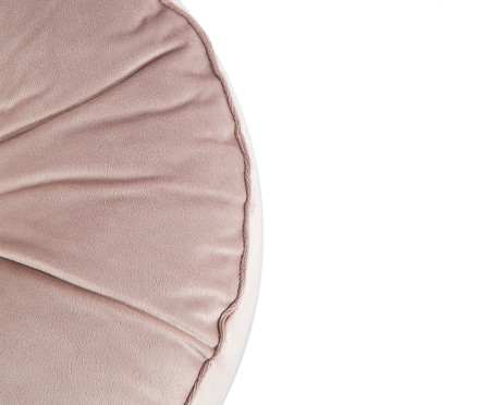 Almofada Botão Redonda em Veludo Bege - 45x10cm | WestwingNow