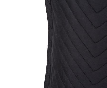 Almofada em Veludo Zig Zag Preto - 50x50cm | WestwingNow