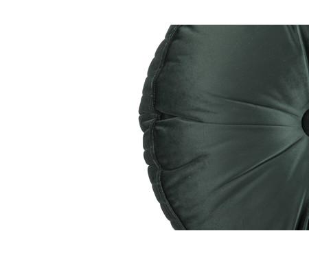 Almofada Botão Redonda em Veludo Lateral Ripado Verde - 45cm | WestwingNow