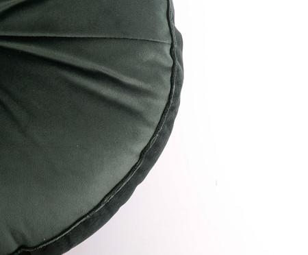 Almofada Botão Redonda em Veludo Verde - 45x10cm | WestwingNow