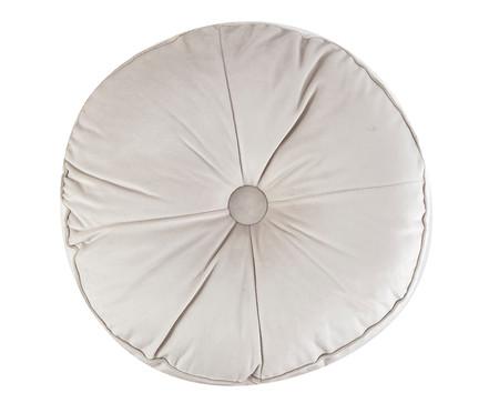 Almofada Botão Redonda em Veludo Gelo - 45x10cm | WestwingNow