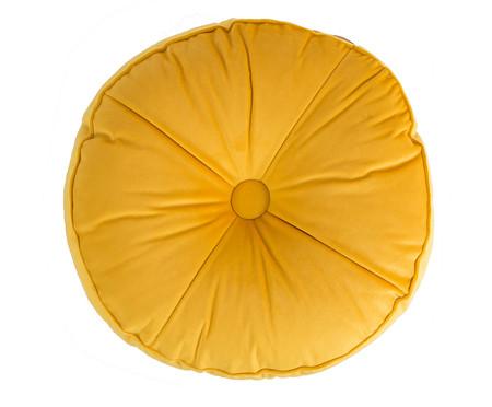 Almofada Botão Redonda em Veludo Dourada - 45x10cm | WestwingNow
