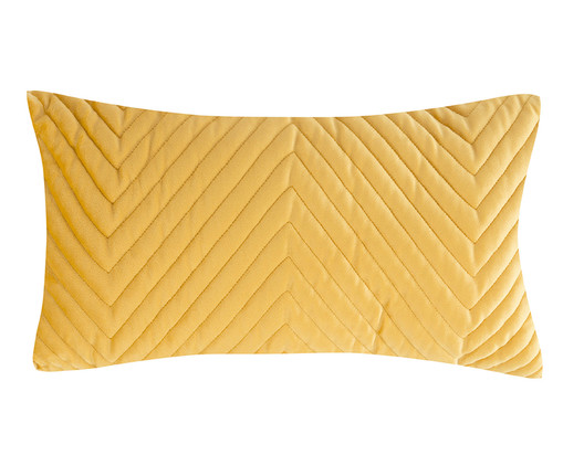 Almofada em Veludo Zig Zag - Bernadine - Amarelo, dourado | WestwingNow