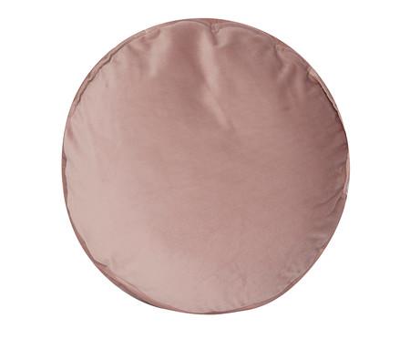 Almofada Redonda em Veludo Lateral Ripado Rosé - 45x15cm | WestwingNow