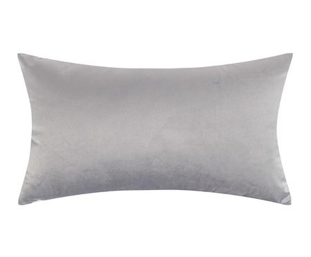Almofada em Veludo Zig Zag - Cinza - 30x50cm | WestwingNow