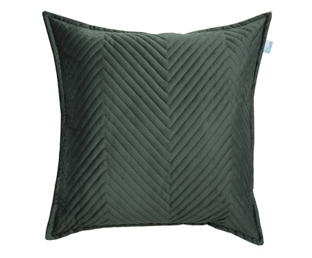 Almofada em Veludo Zig Zag Verde - 50x50cm | WestwingNow