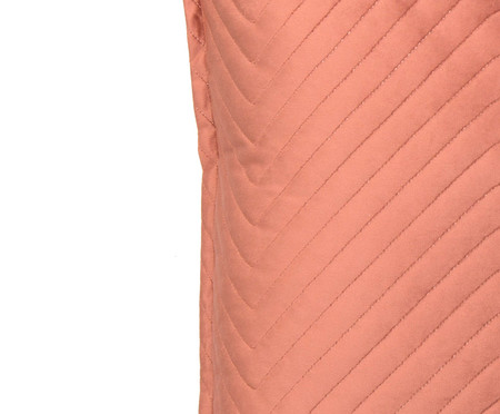 Almofada em Veludo Zig Zag Terracota - 50x50cm | WestwingNow