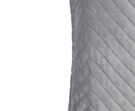 Almofada em Veludo Zig Zag Cinza - 50x50cm | WestwingNow