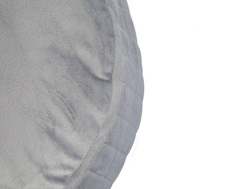 Almofada Redonda em Veludo Lateral Ripado Cinza - 45x15cm | WestwingNow