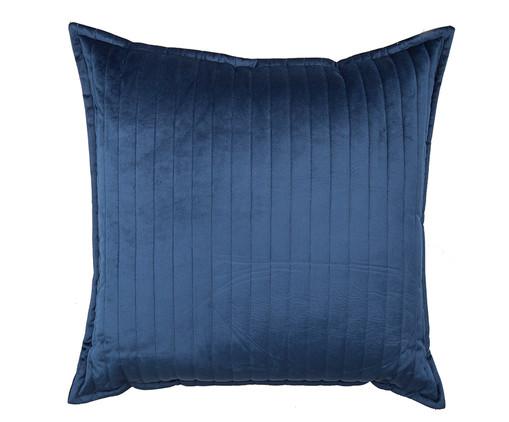 Almofada em Veludo  Ripado Marinho - 50x50cm, azul | WestwingNow