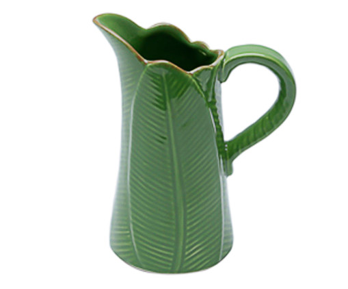 Jarra em Cerâmica Folha - Verde, Verde | WestwingNow