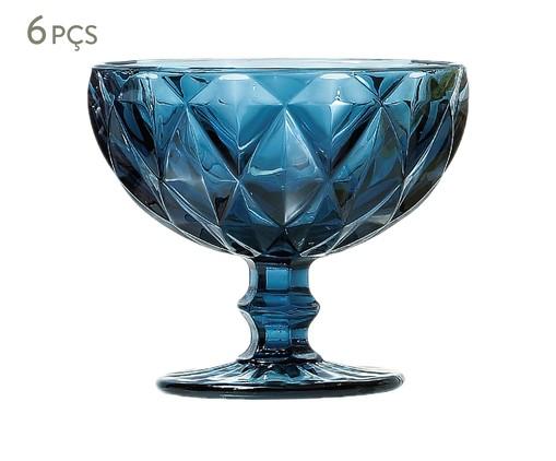 Jogo de Taças para Sobremesa em Vidro Boston - Azul, Azul | WestwingNow