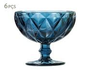 Jogo de Taças para Sobremesa em Vidro Boston Azul - 06 Pessoas | WestwingNow