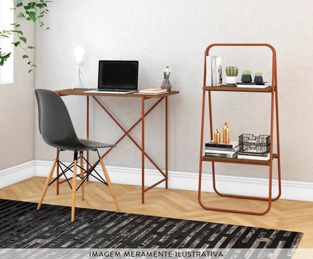 Mesa Escrivaninha Libra Insutrial - Natural e Cobre | WestwingNow