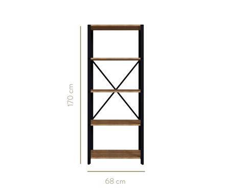 Conjunto Rack e Estante Multiuso Sextans Industrial - Preto | WestwingNow