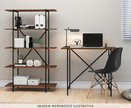 Mesa Escrivaninha Libra Insutrial - Natural e Preto | WestwingNow