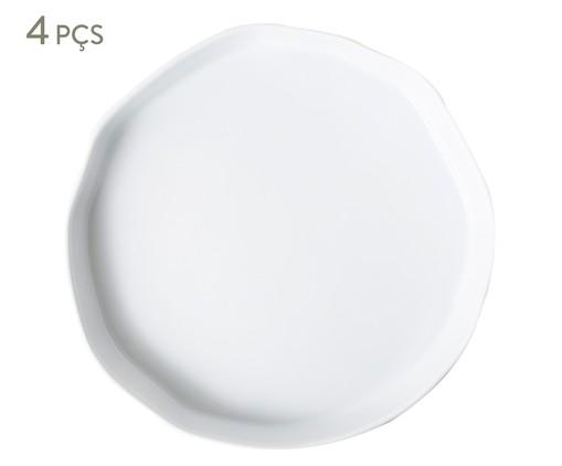 Jogo de Pratos Rasos em Porcelana Malta - Branco, Branco   WestwingNow