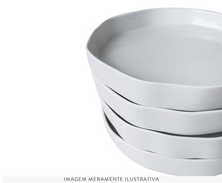 Jogo de Pratos Rasos em Porcelana Malta - Branco | WestwingNow