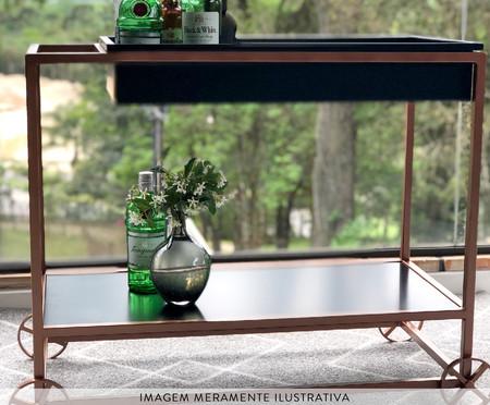 Carrinho de Bar Line - Preto e Bronze | WestwingNow