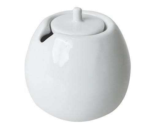 Açucareiro em Porcelana Brusque - Branco, Branco   WestwingNow
