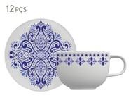 Jogo de Xícaras para Café em Porcelana Evori - Azul   WestwingNow