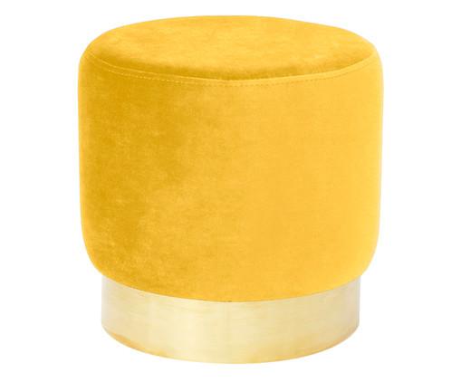 Pufe em Veludo Harlow - Amarelo Alçafrão, Amarelo Alçafrão   WestwingNow