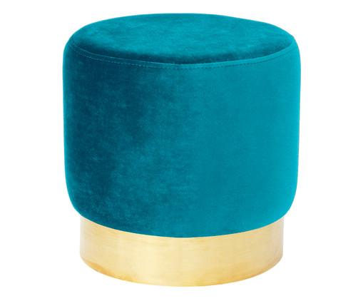 Pufe em Veludo Harlow - Azul Pavão, Azul Pavão   WestwingNow