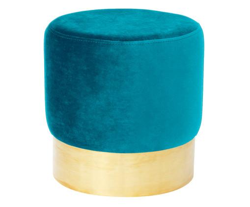 Pufe em Veludo Harlow - Azul Pavão, Azul Pavão | WestwingNow