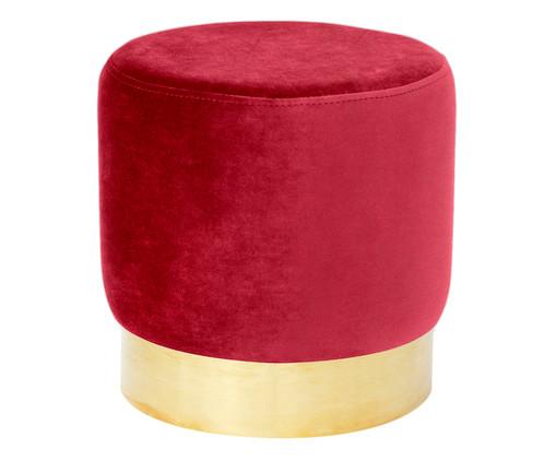 Pufe em Veludo Harlow - Vermelho Cherry, Vermelho Cherry | WestwingNow