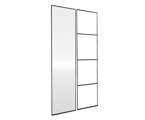 Jogo de Espelho e Escada Eura - Preto, Preto | WestwingNow