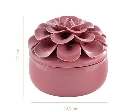 Pote Decorativo em Cerâmica Flor - Marsala | WestwingNow