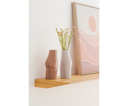 Vaso em Cerâmica Mulher - Bege | WestwingNow